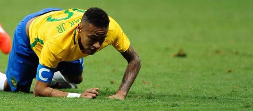 Neymar no pudo liderar a Brasil en el segundo partido de los Juegos Olímpicos. Foto: ABC.