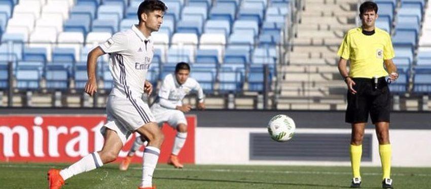 Al hijo de Zidane no le tembló el pulso a la hora de lanzar el penalti. Foto: @marca.