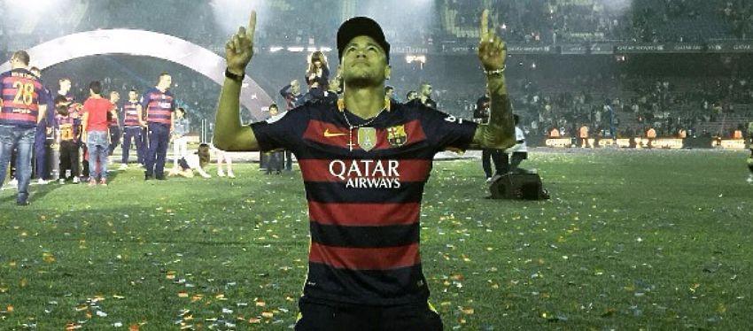 Neymar celebra el doblete logrado por el FC Barcelona esta temporada. Foto: Instagram.