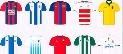 Camisetas de algunos equipos que participan en LaLiga | Foto: Twitter