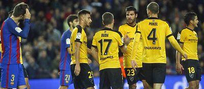 El Barça, que no logró descifrar la portería de Kameni, pudo haber ganado por un descuido del Málaga. Foto: Twitter.