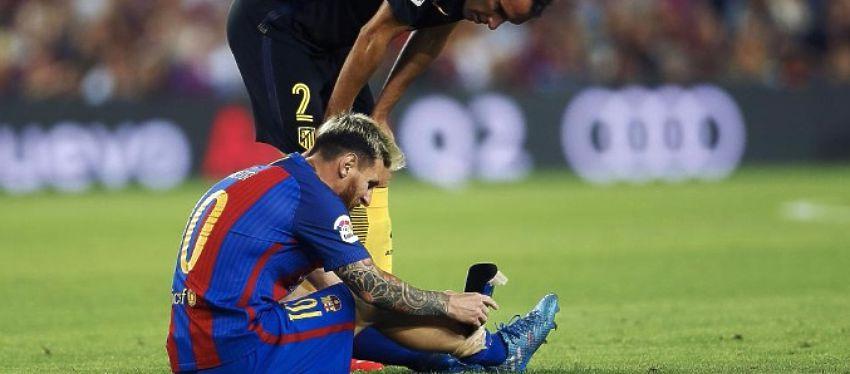 El Barça se quedará sin Messi al menos hasta el 15 de octubre. Foto: @mundodeportivo.