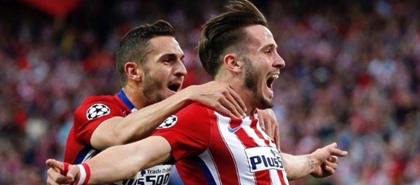 Saúl celebra el gol ante el Bayern de Múnich en la ida de las semifinales de Champions. Foto: Instagram.