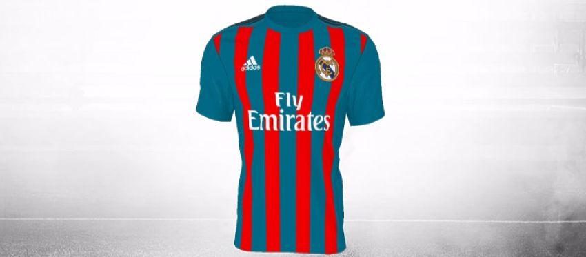 Así luciría el Madrid con los colores azul y grana. Foto: Adidas.