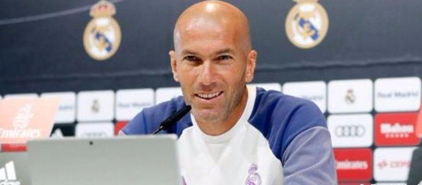 Zidane, en rueda de prensa. Foto: @bernabeudigital.