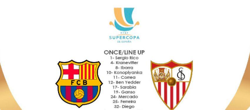 Supercopa de españa - alineación del Sevilla FC