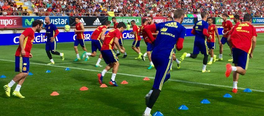 Entrenamiento selección española |Foto: @SeFutbol