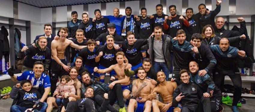 El Alavés, sexto equipo que logra acceder a la final de Copa tras el ascenso a Primera. Foto: Twitter.