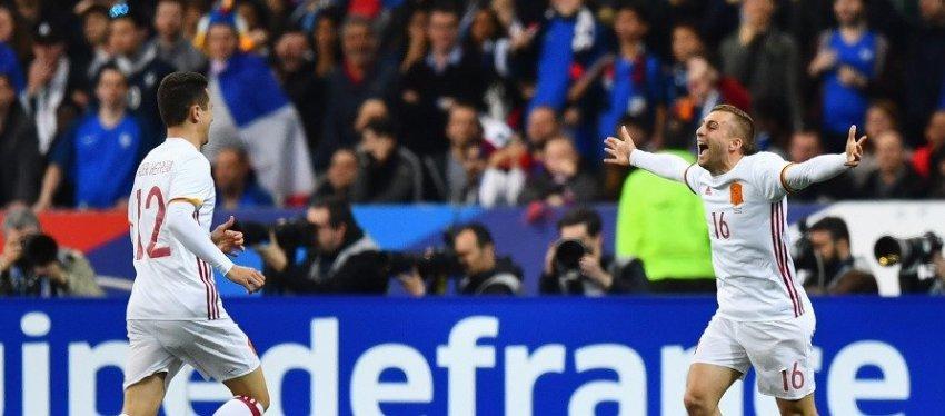 Deulofeu firmó el 0-2 definitivo para España en Saint-Denis. Foto: Antena 3.