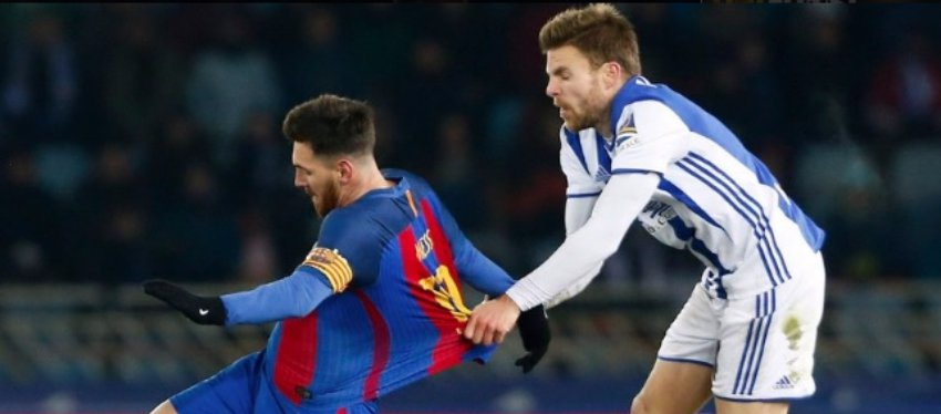 Illarramendi cree que Messi debió ser expulsado. Foto: @ellarguero.