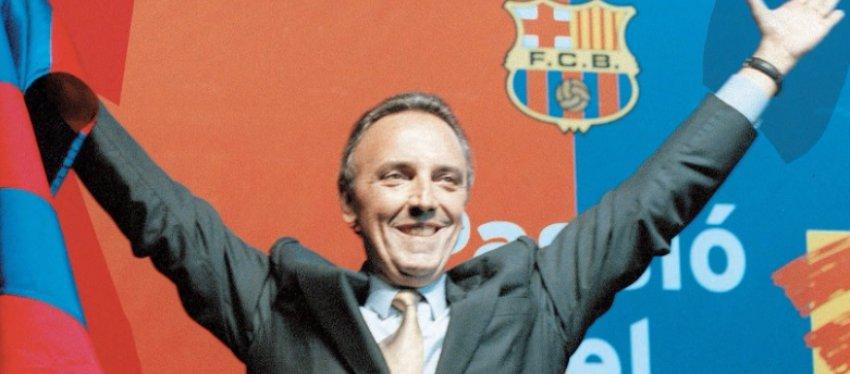 Joan Gaspart, ex presidente del FC Barcelona. Foto: Twitter.