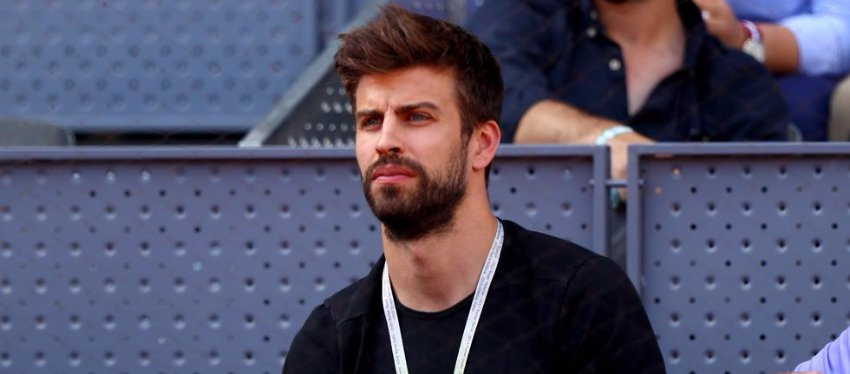 Piqué, en el Mutua Madrid Open. Foto: Clive Rose.