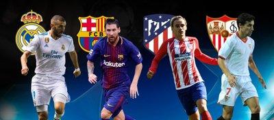 Madrid, Barça, Atleti y Sevilla, nuestros cuatro representantes en Champions. Foto: Onda Cero.