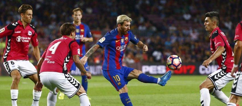 El Alavés espera obrar el milagro ante el FC Barcelona. Foto: La Vanguardia.