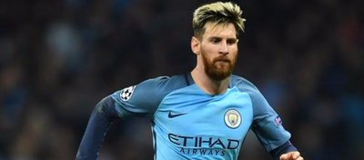 Fotomontaje de Leo Messi con la camiseta del Manchester City. Foto: Mirror.