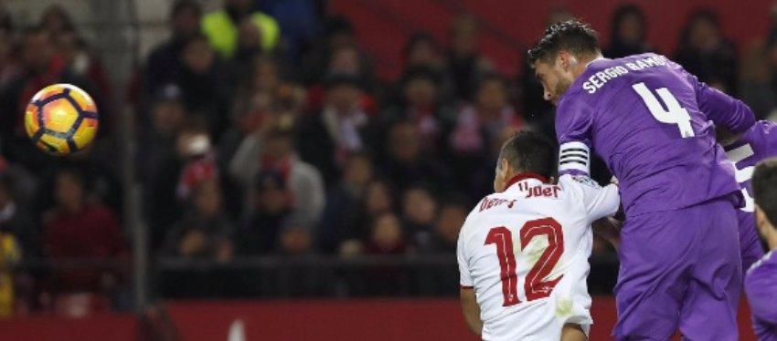 Ramos volvió a ser el protagonista (para mal) del Real Madrid. Foto: Twitter.