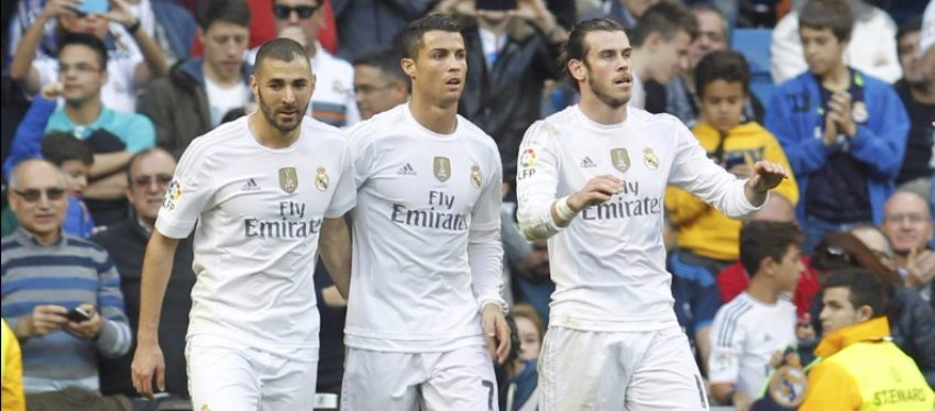 ¿Apostará Zidane por la BBC ante el Nápoles? Foto: Diario AS.