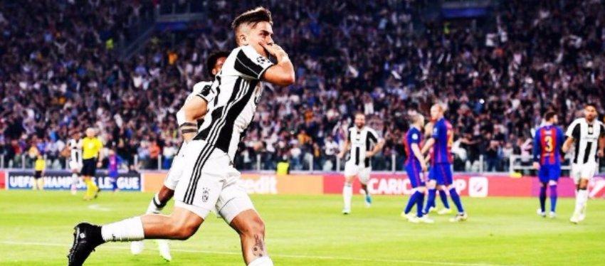 Dybala fue la gran estrella en la goleada al Barça. Foto: Twitter.
