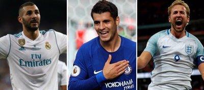 Benzema y la sombra de Morata y Kane