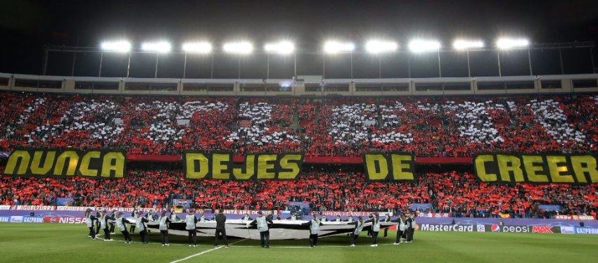 El Vicente Calderón se volverá a vestir de gala para la Champions. Foto: Twitter.