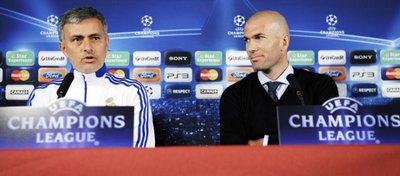 Mourinho y Zidane serán rivales en esta ocasión. Foto: Twitter.