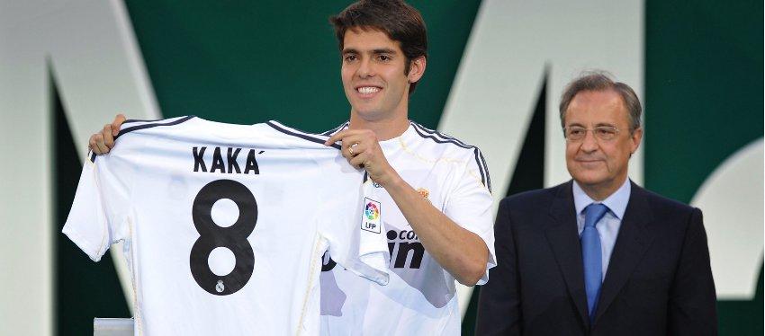 Kaká, uno de los fichajes menos productivos de Florentino Pérez. Foto: Goal.