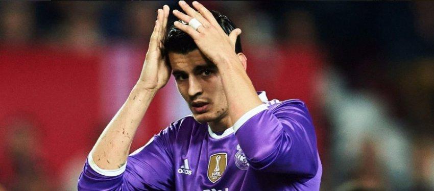 Morata, en un partido con el Real Madrid. Foto: Twitter.