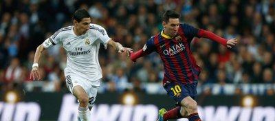 A Di María le gustó el 0-3 del Barça