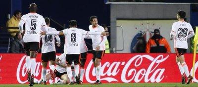 El Valencia celebró su segunda victoria consecutiva desde que comenzó la Liga. Foto: Marca.