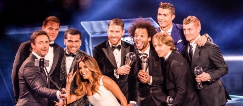 Varios de los protagonistas de la gala 'The Best'. Foto: Twitter.