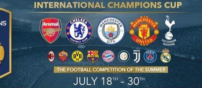 Los horarios de la International Champions Cup