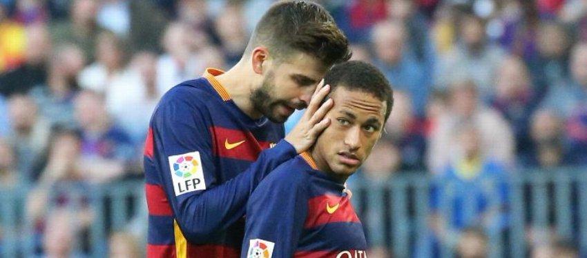Piqué y Neymar, en un partido de la pasada temporada. Foto: Goal.