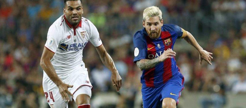 Messi vuelve al trabajo ante su víctima favorita. Foto: Diario AS.