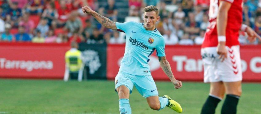 Digne, jugador del FC Barcelona. Foto: Twitter.