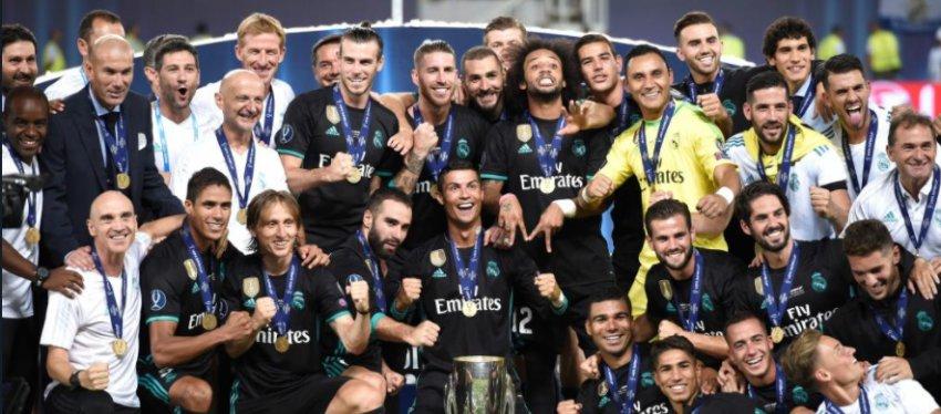 La plantilla del Real Madrid, inaccesible a nivel económico. Foto: Twitter.