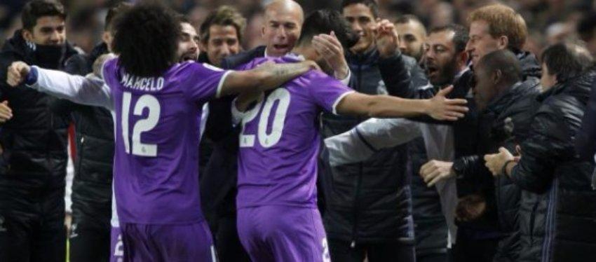 Con el gol de Benzema, el Madrid alcanzó los 40 partidos sin conocer la derrota. Foto: Twitter.