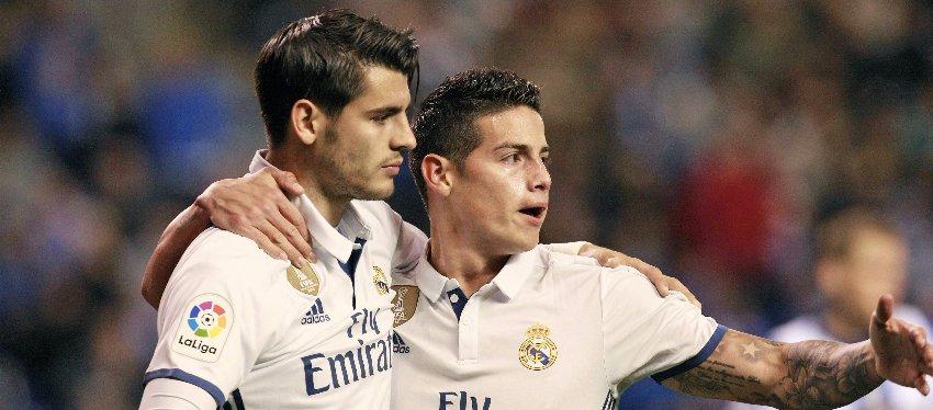 Morata y James, dos de los jugadores por los que el Madrid ha hecho caja. Foto: Libertad Digital.