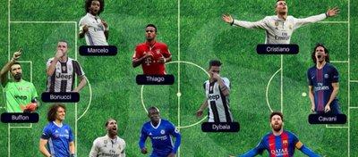 El mejor once de la temporada, según 'World Soccer'. Foto: As.