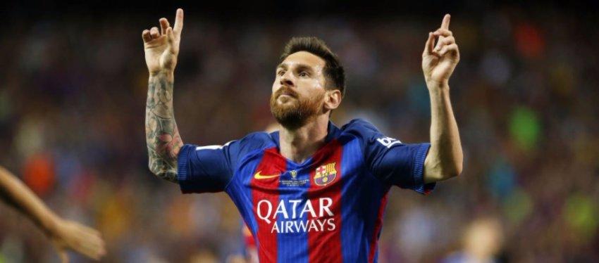 Messi celebra un gol con el Barça. Foto: FC Barcelona.