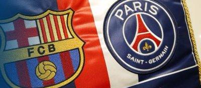 Escudos del Barça y del PSG | Foto: PSG