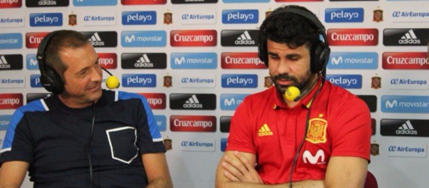 Manu Carreño entrevista a Diego Costa. Foto: El Larguero.