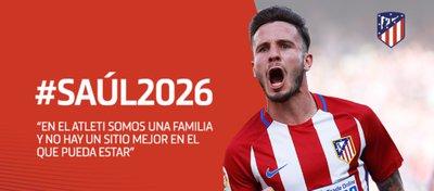 Saúl será rojiblanco hasta el año 2026. Foto: Atlético de Madrid.