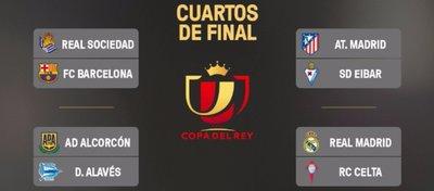 Así quedan los cuartos de final de la Copa del Rey. Foto: LaLiga.