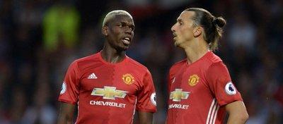 Pogba e Ibrahimovic, las dos grandes estrellas del Manchester United. Foto: Twitter.