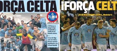 La prensa de Barcelona se vuelca con el Celta