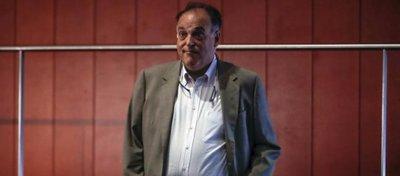 Javier Tebas, en la Ciudad del Fútbol. Foto: Agencia EFE.