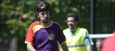 Pablo Iglesias, con la camiseta republicana de la selección. Foto: Twitter.