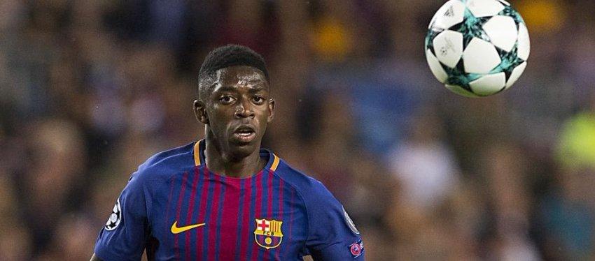 Imagen: Dembelé durante unpartido del Barça