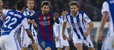 La Real espera dar la sorpresa en el Camp Nou y levantar la eliminatoria de Copa. Foto: Mundo Deportivo.