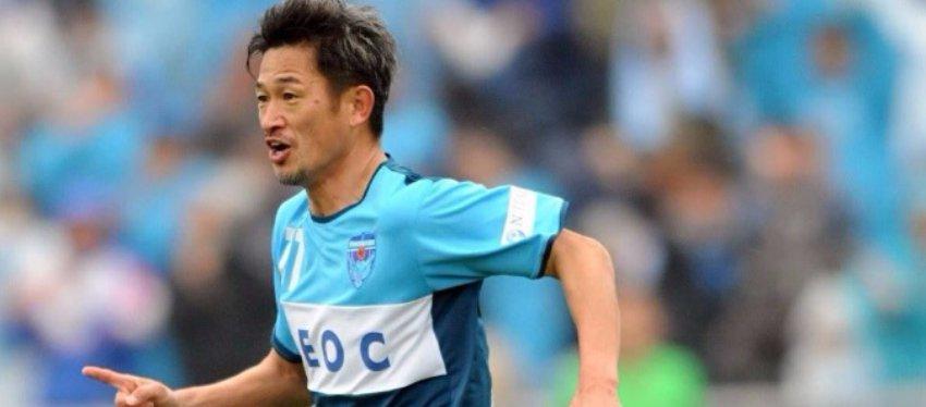 Kazuyoshi Miura sigue como un chaval a sus 49 años. Foto: Twitter.